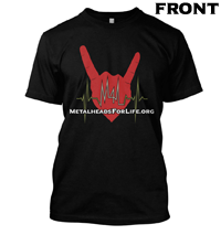 Metalheads For Life T-Shirt - Front